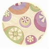 Kidding Around 0430 Pastel Peppermints 3' Round Size Area Rug