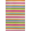 "Kidding Around 0434 Chic Stripes 3'3"" x 5'3"" Size Area Rug"
