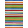 "KAS Rugs Kidding Around 0435 Cool Stripes 3'3"" x 5'3"" Size Area Rug"