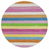 Kidding Around 0435 Cool Stripes 3' Round Size Area Rug