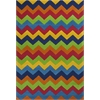 "KAS Rugs Kidding Around 0444 Cool Ziggy Zaggy 5' x 7'6"" Size Area Rug"