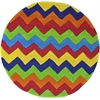 Kidding Around 0444 Cool Ziggy Zaggy 3' Round Size Area Rug