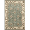 "Kingston 6406 Blue/Ivory Mahal 3'3"" x 4'11"" Size Area Rug"