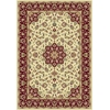 "Kingston 6412 Ivory/Red Tabriz 5'3"" x 7'7"" Size Area Rug"