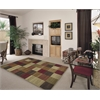 "Lifestyles 5426 Beige Squares 5'3"" Round Size Area Rug"