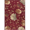 "Lifestyles 5458 Red Capri 23"" x 35"" Size Area Rug"