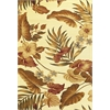 "Lifestyles 5459 Ivory Tropical 5'3"" x 7'7"" Size Area Rug"