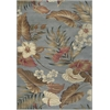 "Lifestyles 5460 Slate Tropical 5'3"" x 7'7"" Size Area Rug"