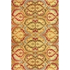 "Lifestyles 5466 Gold Firenze 5'3"" x 7'7"" Size Area Rug"