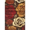 "Lifestyles 5479 Mocha Rose 2'3"" x 7'7"" Runner Size Area Rug"