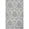 KAS Rugs Marbella 3500 Ivory/Grey Damask 8' X 10' Size Area Rug
