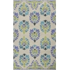 "Marbella 3503 Sand/Blue Courtney 3'3"" x 5'3"" Size Area Rug"