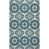 Marbella 3506 Ivory/Blue Courtyard 8' X 10' Size Area Rug