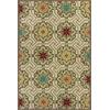 "Meridian 2520 Ivory Mosaic 5' x 7'6"" Size Area Rug"