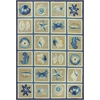 "Meridian 2528 Beige/Blue Oceana 3'3"" x 5'3"" Size Area Rug"
