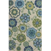 "Meridian 2529 Ivory/Blue Verano 7'6"" Round Size Area Rug"