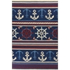"Meridian 2531 Navy Nautical 3'3"" x 5'3"" Size Area Rug"