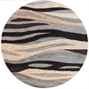 "Milan 2106 Grey Breeze 5'6"" Round Size Area Rug"