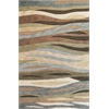 "Milan 2108 Green Breeze 7'9"" x 9'9"" Size Area Rug"