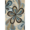 "KAS Rugs Milan 2120 Sand/Teal Groove 3'3"" x 5'3"" Size Area Rug"