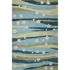 "KAS Rugs Milan 2129 Blue/Green Springtime 5' x 7'6"" Size Area Rug"