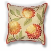 "KAS Rugs L173 Red Chrysanthemum Pillow 18"" x 18"" Size Pillows"