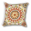 "KAS Rugs L174 Red Suzani Pillow 18"" x 18"" Size Pillows"