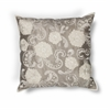 "KAS Rugs L179 Silver Floral Pillow 18"" x 18"" Size Pillows"