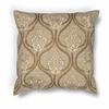 "KAS Rugs L182 Gold Damask Pillow 18"" x 18"" Size Pillows"