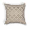 "L185 Taupe Diamonds Pillow 18"" x 18"" Size Pillows"
