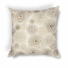 "KAS Rugs L186 Ivory Concentric Pillow 18"" x 18"" Size Pillows"