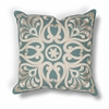 "KAS Rugs L189 Teal Damask Pillow 18"" x 18"" Size Pillows"