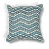 "KAS Rugs L190 Teal Chevron Pillow 18"" x 18"" Size Pillows"