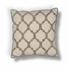 "KAS Rugs L191 Beige Teal-Trefoil Pillow 18"" x 18"" Size Pillows"