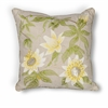 "L193 Taupe Sunflowers Pillow 18"" x 18"" Size Pillows"