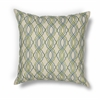 "KAS Rugs L195 Blue-Green Waves Pillow 18"" x 18"" Size Pillows"