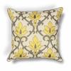 "KAS Rugs L196 Yellow-Grey Damask Pillow 18"" x 18"" Size Pillows"