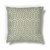 "L201 Seafoam/Chocolate Geo Pillow 20"" x 20"" Size Pillows"