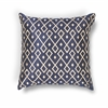 "KAS Rugs L203 Gold/Navy Diamonds Pillow 18"" x 18"" Size Pillows"