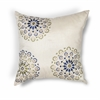 "KAS Rugs L205 Ivory/Blue Suzani Pillow 20"" x 20"" Size Pillows"
