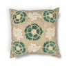 "KAS Rugs L211 Taupe-Teal Blooms Pillow 20"" x 20"" Size Pillows"