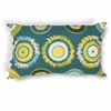 "KAS Rugs L218 Blue/Green Circles Pillow 12"" x 20"" Size Pillows"