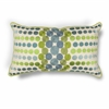 "KAS Rugs L220 Blue/Green Circles Pillow 12"" x 20"" Size Pillows"