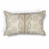 "KAS Rugs L222 Ivory Damask Pillow 12"" x 20"" Size Pillows"