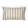 """L223 Ivory/Grey Stripes Pillow 12"""" x 20"""" Size Pillows"""