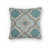 "KAS Rugs L229 Grey/Blue Filigree Pillow 20"" x 20"" Size Pillows"