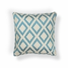 "L242 Turquoise Diamonds Pillow 20"" x 20"" Size Pillows"