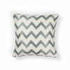 "L245 Ivory/Lt.Blue Chevron Pillow 20"" x 20"" Size Pillows"
