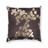 "L296 Chocolate Flora Pillow 18"" x 18"" Size Pillows"