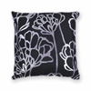 "KAS Rugs L299 Black Blossom Pillow 18"" x 18"" Size Pillows"